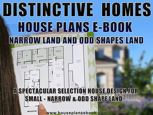 Narrow Low House Plans Design E-Book