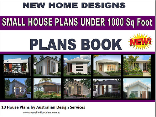 Small House Plans under 1000 Sq.Ft - 10 House Plans Book