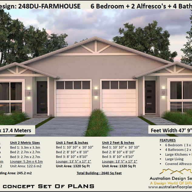 Free Verson country duplex design
