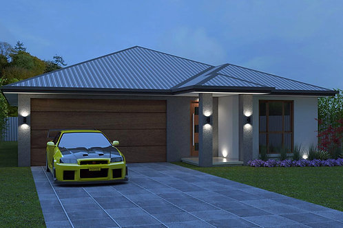 4 Bedroom 10.5 metre frontage house designs  | 180NB House Plan