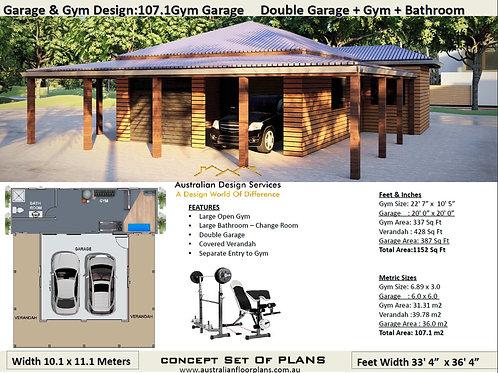 Garage & Gym Design:107.1Gym Garage