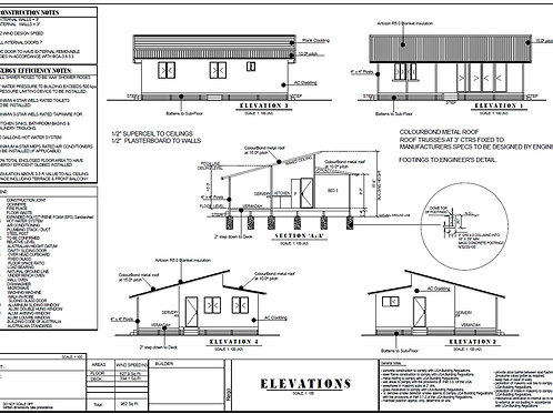 90.8 -2 Bed Granny Flat Plans: 59.4 m2 | Steel Frame House Plans