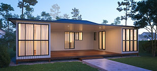 COMBINATION-ROOF-container home plan