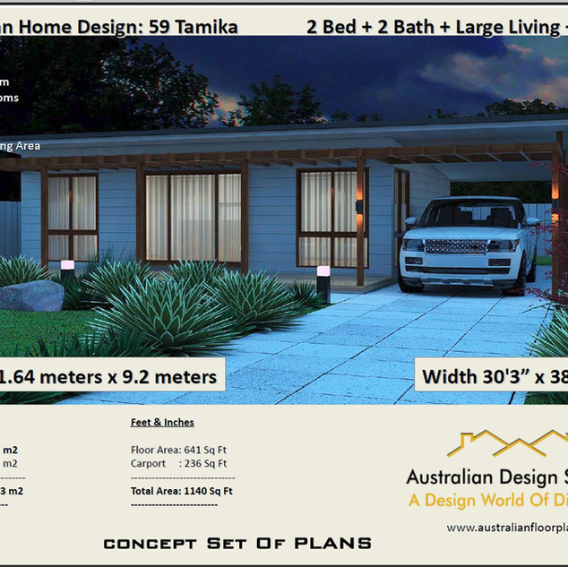 59 Tamika Free 2 Bed House Plan Australia