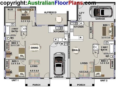231 DU | 5 Bed + Garage: 231.30 m2  | Duplex House Plan Preliminary House Plans