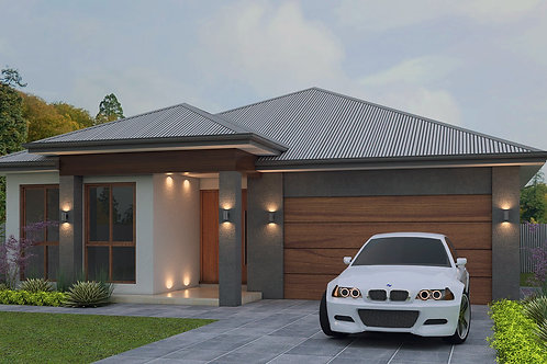 NARROW LOT ! 4 Bed + Garage House Plans | 209.3 LH House Plan Set
