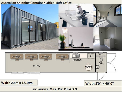 Shipping Container Office Plan: office for a 40 feet container