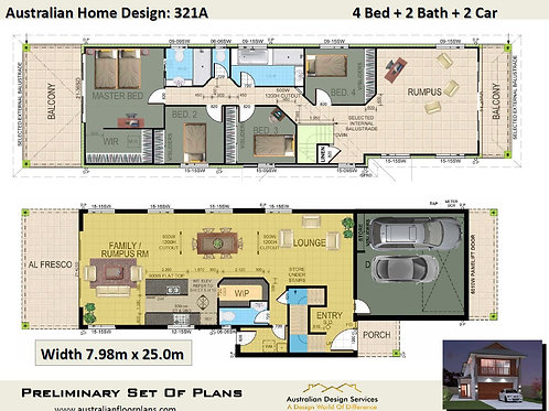SMALL 2 storey house plans :321.0 m2  | 321A Preliminary Home Plans