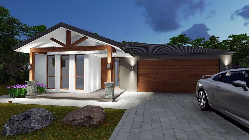 modern 4 bedroom house plan