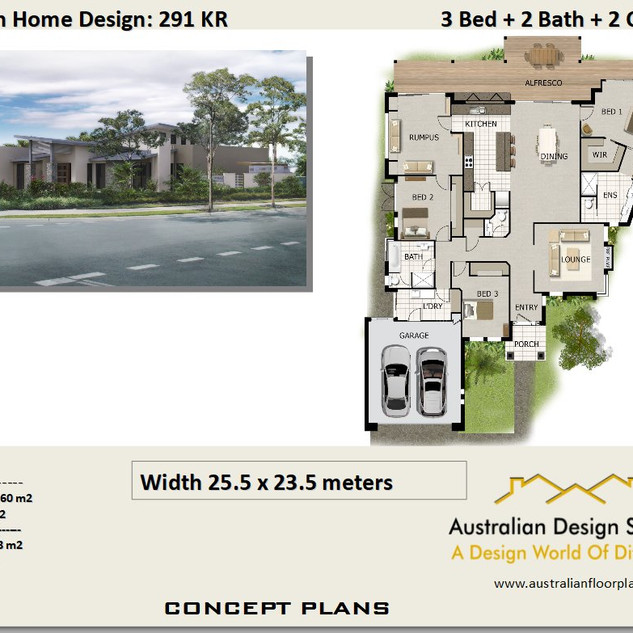 Waterfront 3 Bed House Plan291KR