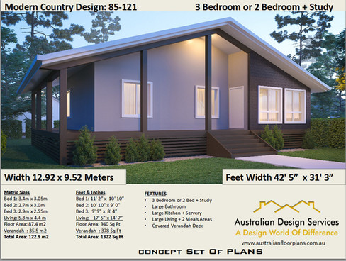 Modern Country 3 Bedroom Kit Home
