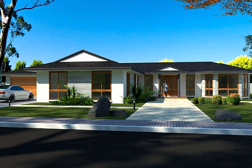 3 car garage house plans australia  | 172s CLM House Plan Set