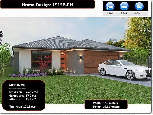 4 bedroom modern house plans   191SB  House Plan