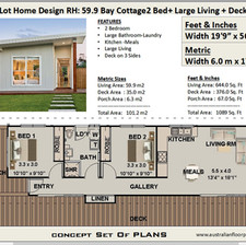 59.9 Bay Cottage Free House Plan