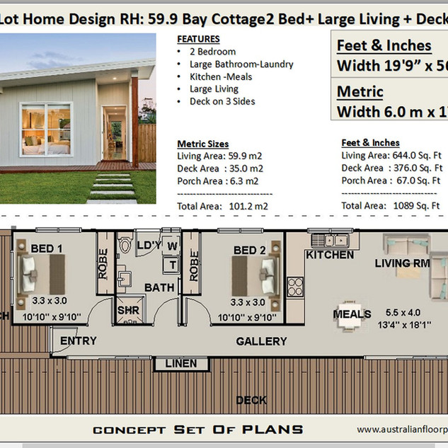 59.9 Bay Cottage Free House Plan