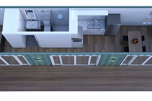 40 Foot Shipping Container Home Plan:40ft -VIC | Construction Set of Pla
