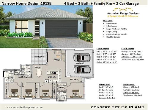 4 bedroom modern house plans | 191SB  House Plan
