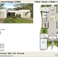 4 Bed or 3 Bed + Study House Plan270KR-2