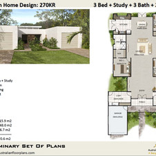4 Bed or 3 Bed + Study House Plan270KR