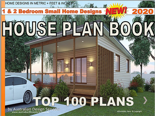 1 & 2 Bedroom -Small and Tiny House Plan Design E-Book