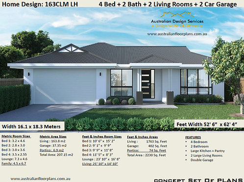 4 BEDROOM ! large family home plans |163 CLM House Plan Set
