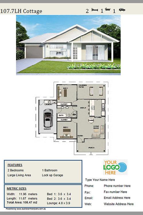 Cottage  Home Design: 107.7