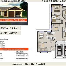 Narrow Lot 4 Bedroom Plans144clm