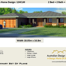 2 Bedroom House Plan124 CLM