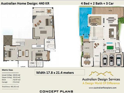 WATERFRONT!  House Plans Australia | 440 KR House Plan
