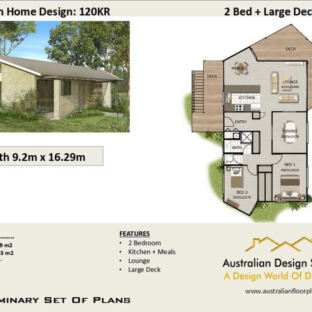 2 Bedroom House Plan120KR