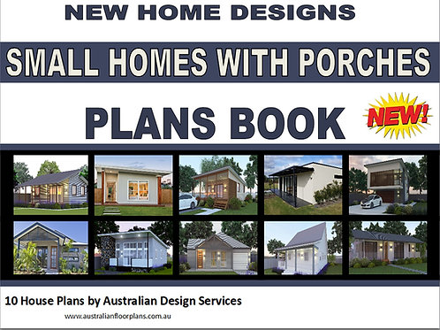 Small Homes With Porches Plans Book - 10 House Plans Book