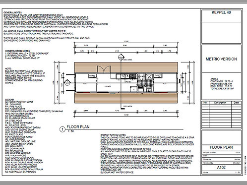 Shipping Container Home plans:40 Foot  | Concept Home Plan