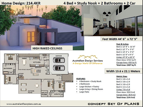 Modern House Plan:214.4KR