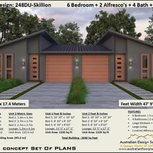Duplex Plan Skillion Roof
