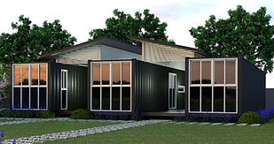 off the grid container home