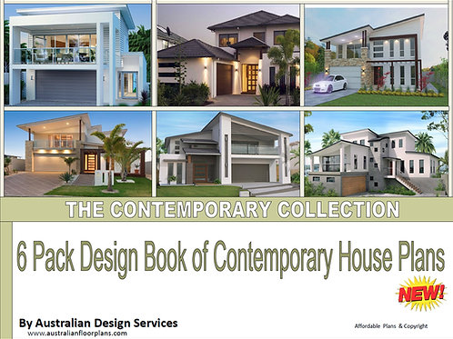 THE CONTEMPORARY HOMES COLLECTION-6 Pack Design Book of Contemporary House Plans