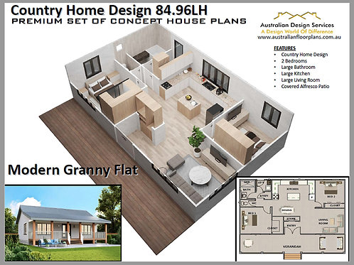 Modern Country Home Design: 84.90LH