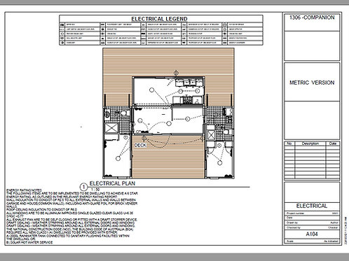 2 Bedroom 2 + 2 Bathroom Shipping Container Home plans:1306 Companion