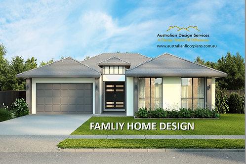 Modern Home Design 4 bedroom : 290LH
