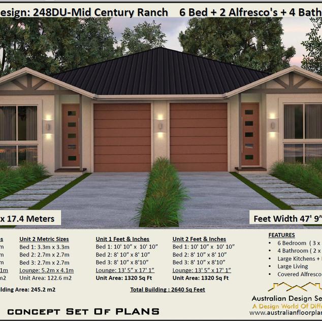 Mid-Century Duplex Design