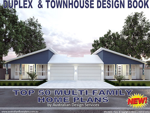 Australian Duplex and Townhouse Home Design Book-Top 50 Multi Family House plans