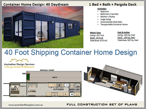 Construction Plans  Shipping Container Home:  40 Daydream