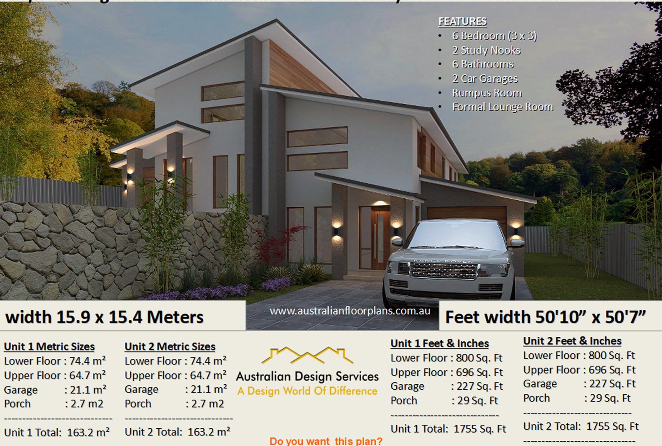 Sloping land duplex design