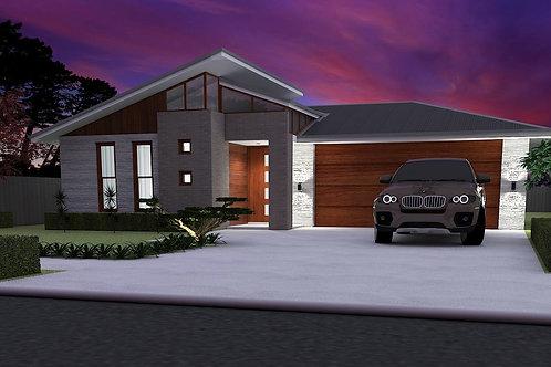 Simple four bedroom house plans  | 181SB House Plan