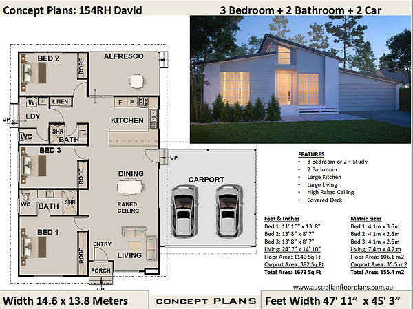 kit home plan 154 David