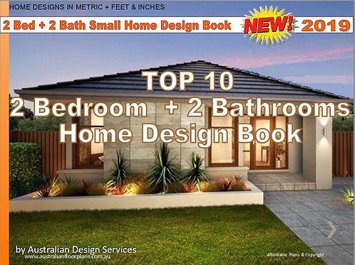 TOP 10 : 2 Bedroom + 2 Bathroom -Small House Plan Design Book