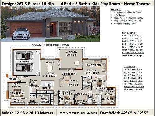 Modern Home Design | 4 Bedroom + Kids Play Room