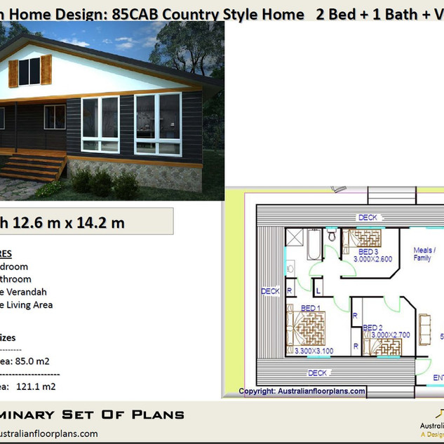 3 Bedroom batch House Plan