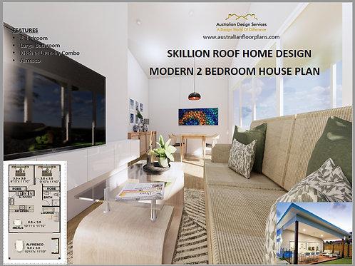 Granny Flat - 2 Bed House Plan:82.4 m2 | Preliminary House Plan Set