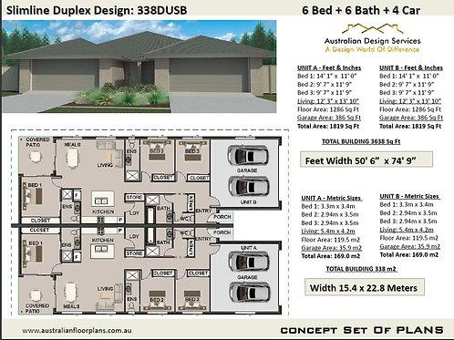 Duplex House Design: 338DUSB - For Sale